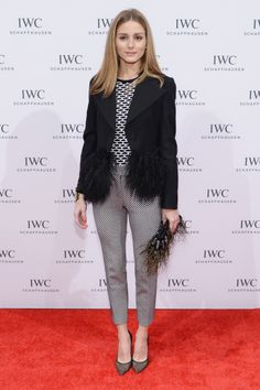 Olivia Palermo wearing Tibi sweater, Tribeca Film Festival 2014, dinner hosted by IWC 'For the love of cinema'