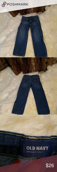 Old navy Boys Jeans sz 5T New W/ Out Tags ?? I bought these clothes online to find out hid granny rene bought a butt load of boys clothes so my loss your gain. Sz 5T New no tags online purchase ss most of all my stuff is.  Ask any and all ?'s, if you have any and all ?'s please message me on here and i'll get right back with an answer. I ship every day except Sunday then on Sun I ship following mail running next day.  Cheers, Happy Poshing & Merry Christmas. Old Navy Bottoms Jeans