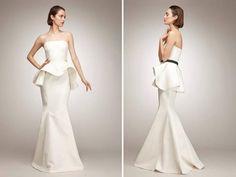 Wedding Dress of the Week: Isaac Mizrahi's Peplum Gown | Bridal Fantasy Blog | Bridal Fantasy