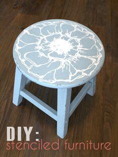 Silhouette Blog: DIY: Stenciled Furniture