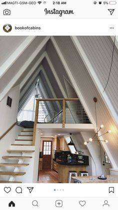 22 clever loft stair for tiny house ideas 22 clever loft stair for tiny house ideas Ayfraym DIY Cabin Cabine de bricolage Ayfraym OPTISTEP OST Metal Scissors Loft Ladder + Frame And Insulated Hatch x in Home, Furniture & DIY, DIY Tools, Ladders Tiny House Cabin, Tiny House Living, Tiny House Design, Cabin Homes, Loft House, Living Room, A Frame House Plans, A Frame House Kits, Loft Stairs