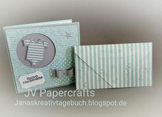 """JV Papercrafts: Baby-Set in Aquamarin, Stampin up """"Zum Nachwuchs """""""