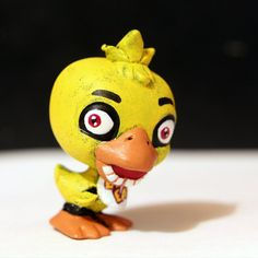 My current project is to make all the Five Nights at Freddy's characters from the first and second games from LPS figures Here's the fir. Chica from FNAF LPS custom Fnaf Action Figures, Custom Lps, Lps Pets, Little Pet Shop, Game Sales, Bendy And The Ink Machine, Five Nights At Freddy's, Rubber Duck, Games For Kids
