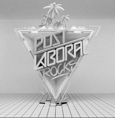 Post Laboral Rocks by Mike Aymes, via Behance
