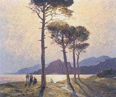 Gustave VIDAL  'Effet du soir bors des mers'   Côte d'Azur   Alpes Maritimes   Région Provence-Alpes-Côte d'Azur