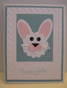 punch art Easter Bunny - so cute!