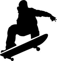 teen boys skateboarding - Stencils For Boys