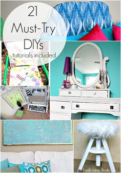 21 Must-Try DIY tutorials you will love at Fresh Idea Studio ~ Your place for DIY inspiration