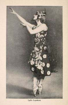 Lydia lopokova, Russian Ballerina, dancer in The Ballet Russes, under Diaghilev. Married John Maynard Keynes in 1925. Friends of The Bloomsbury Group, and visitors at Charleston Farmhouse.