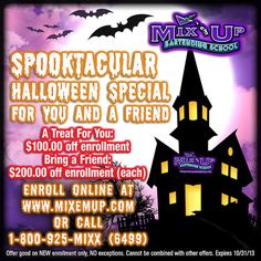 BOOOOO!!!! ...it seems like a frightfully good time to tell you about the Mix 'em Up Bartending School NJ SPOOKTACULAR HALLOWEEN SPECIAL! ENROLL TODAY!