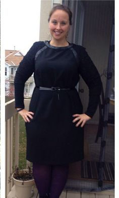 London Times Shift Dress with Lace Sleeves on #gwynniebee member @jackiefiedler