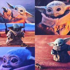 "I watch ""The Mandalorian"" because of baby Yoda. Baby Yoda is soooo cute 😘😍 Star Wars Meme, Star Wars Baby, Star Wars Kunst, Yoda Pictures, Funny Pictures, Star Wars Brasil, Baby Activity, Wallpapers Wallpapers, Baby Animals"