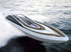 Arya boat is a conceptual luxury yacht tender designed with special attention to its aerodynamics.