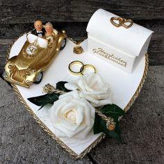 Geldgeschenke - Geldgeschenk gold Hochzeit Herz Geld verschenken - ein Designerstück von Familienfeste bei DaWanda