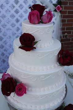 Wedding Cake - Simple but elegant!