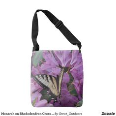 Monarch on Rhododendron Cross Body Bag