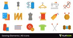 40 free vector icons of Sewing Elements designed by Freepik