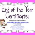"-Includes 27 colorful end of the year certificates -Click on the ""Download Preview"" button to see a preview of all of the awards!  End of the Year ..."