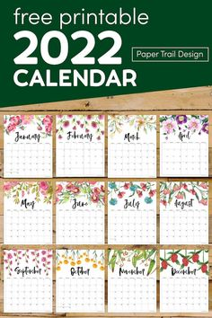 Free printable 2022 floral calendar. Print this free printable monthly calendar and come back each month for the calendar page template. Monthly Calender, Free Calendar, Print Calendar, Calendar Pages, 3 Month Calendar, Free Printable Calendar Templates, Printable Planner Pages, Printable Wall Art, Free Printables