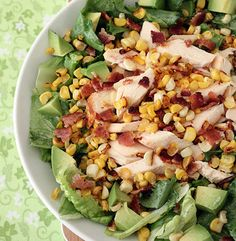 CHICKEN BACON AND CORN SALAD HONEY LIME VINAIGRETTE