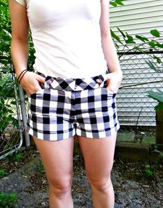 Giant gingham Thurlow shorts by lladybird