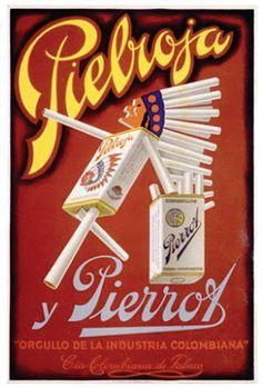 Cigarrillos Pielroja en los anos 50s