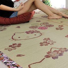 HK |❣| HELLO KITTY Small Tatami Flower Rug