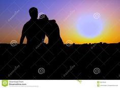 couple sitting silhouette - Google Search