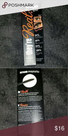 They're Real! Mascara Brand new in the box. They're real mascara, shade is black. Full size tube. Benefit Makeup Mascara