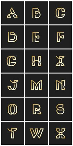 Golden retro alphabets vector set Free V. Alphabet Design, Alphabet Logo, Typo Logo, Typographic Logo, Typography, Inspiration Typographie, Schrift Design, Luxury Logo, Creative Logo