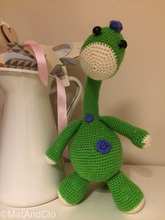 Bronty the Dinosaur by MatAndClo on Etsy