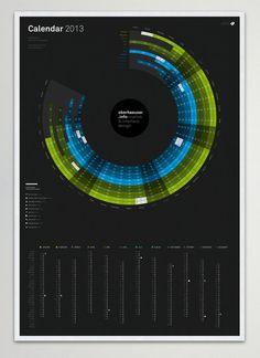 oberhaeuser.info calendar 2013 by Martin Oberhäuser, via Behance