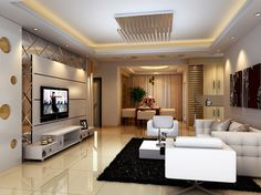 35 Beautiful Cozy Living Room Design Idea Try For You - ceiling design Living Room Tv Unit Designs, Ceiling Design Living Room, Best Living Room Design, Flur Design, Plafond Design, Hall Design, Drawing Room Design, Drawing Room Interior, Cozy Living Rooms