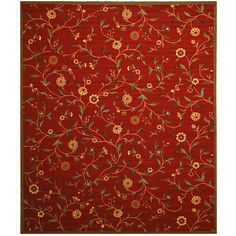 EORC  Red Euro Home Rug (7'10 x 9'10)