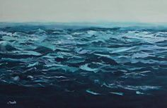 "Saatchi Art Artist Jen Dacota; Painting, ""Liquid Blue No.3"" #art"
