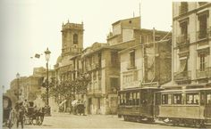 Memoria gráfica de España.  Calle Mayor del Grao 1910. Se observa la Iglesia de Santa Maria del Mar.A/V del puerto. The Province, Alicante, Santa Maria, Where To Go, Trip Planning, Spain, Hiking, Explore, Beach
