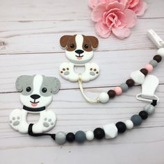 A personal favorite from my Etsy shop https://www.etsy.com/listing/602702106/puppy-silicone-teether-baby-teether