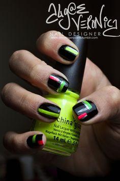 neon on black