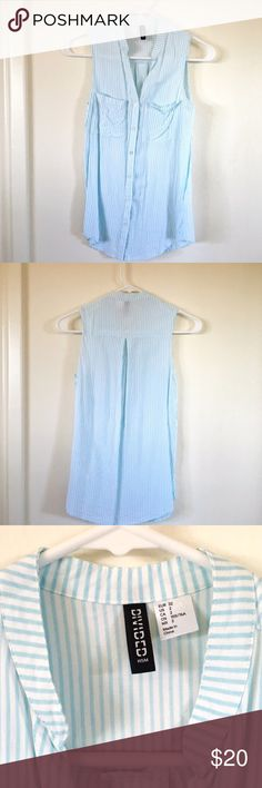 H&M blue stripe tank Perfect condition no holes or stains! I would love to find this a new home! H&M Tops Tank Tops