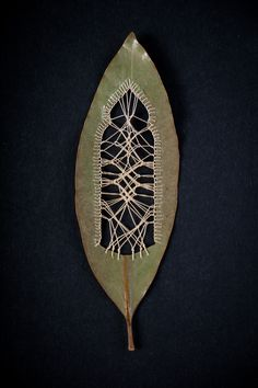 Artist Hillary Fayle creates beautifully delicate embroidered leaves in a painstaking process that combines traditional and original embroidery techniques. Fayle can make custom pieces to order. Textiles, Embroidery Art, Embroidery Patterns, Instalation Art, Embroidered Leaves, Leaf Art, Nature Crafts, Art Plastique, Textile Art