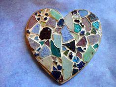 Broken China Mosaic TilesVintage Garden by InspiredTesserae, $14.99