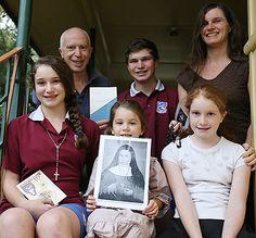 The Swan family, relatives of Blessed Marie-Alphonsine Danil Ghattas.