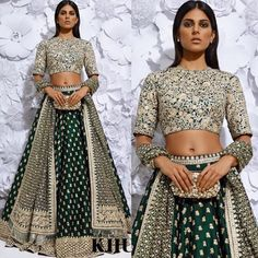 Black Lehnga by Sabyasachi Mukherjee