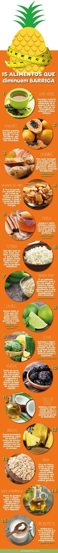 15 Alimentos que diminuem a barriga - Blog da Mimis #blogdamimis #barriga #dieta #alimentos