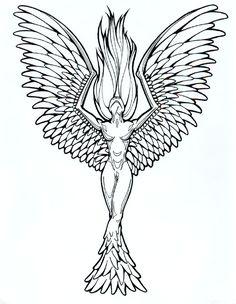 Phoenix Tattoo Designs for Women   tattoo designs phoenix 04   The Collectioner