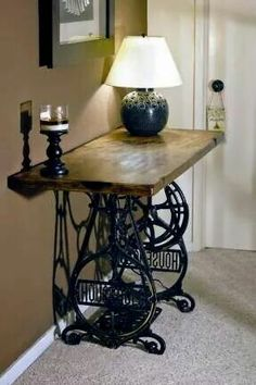 So pretty! ex-sewing table.