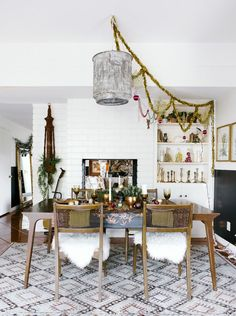 See a California-Eclectic Christmas Tablescape We Totally Envy via @domainehome