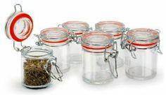 Danesco Mini Jar Set - Wire Bail - 30 mL : Amazon.com : Kitchen & Dining set of 8 for $23.49