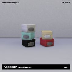 Koposov - объекты для The Sims™: Set No.3 Dining Part 1 for The Sims 4
