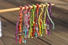 Looking for knitting project inspiration? Check out Rainbow Stitch Markers by member Monika Sirna. Knitting Stitches, Knitting Needles, Wine Ring, Wet Felting, Stitch Markers, Knitting Projects, Creative Inspiration, Ravelry, Tatting